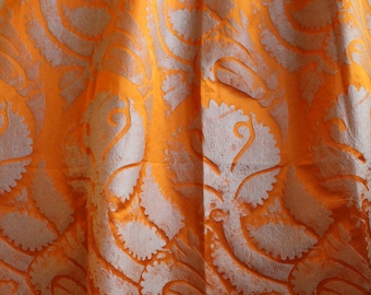 "Designers Guild ""Majella""  Orange, Woven Silk Satin, Drapery Upholstery Fabric, From Jane Hall Design"