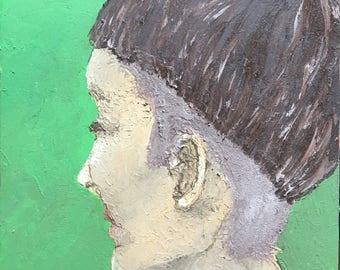 Bowl Cut oil painting