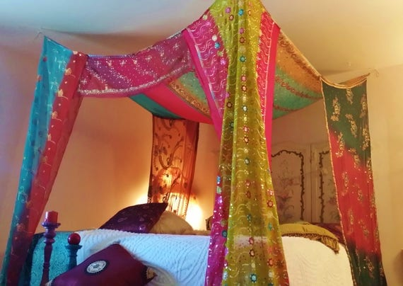 Like this item? & Bed Canopy Boho Gypsy Bedroom Made To Order India Fabric