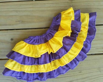 Game day skirt, game day ruffle skirt, game day infant skirt, game day child skirt, 4 tier ruffle skirt