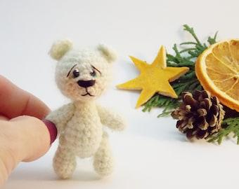 Mini crochet bear, teddy bear, kawaii, artist bear, softie, blythe bear, mini bear, stuffed toy Ready to ship