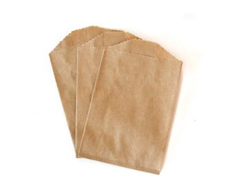Kraft Mini Paper Bags // Small Favor Bags // Small Treat Bags // Utensil Bags 4 x 2.75 (Set of 25)