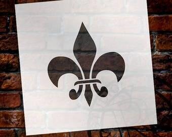 Bourbon Fleur De Lis Art Stencil - Select Size - STCL922 - by StudioR12