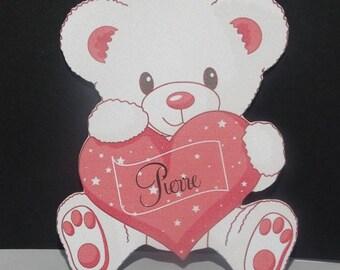 Mark up bear fuchsia heart