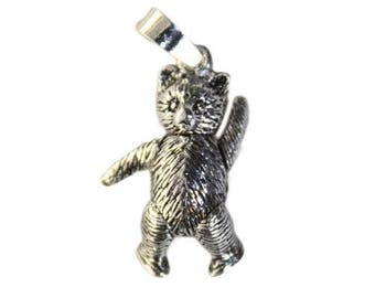 925 Sterling Silver Teddy Bear Pendant