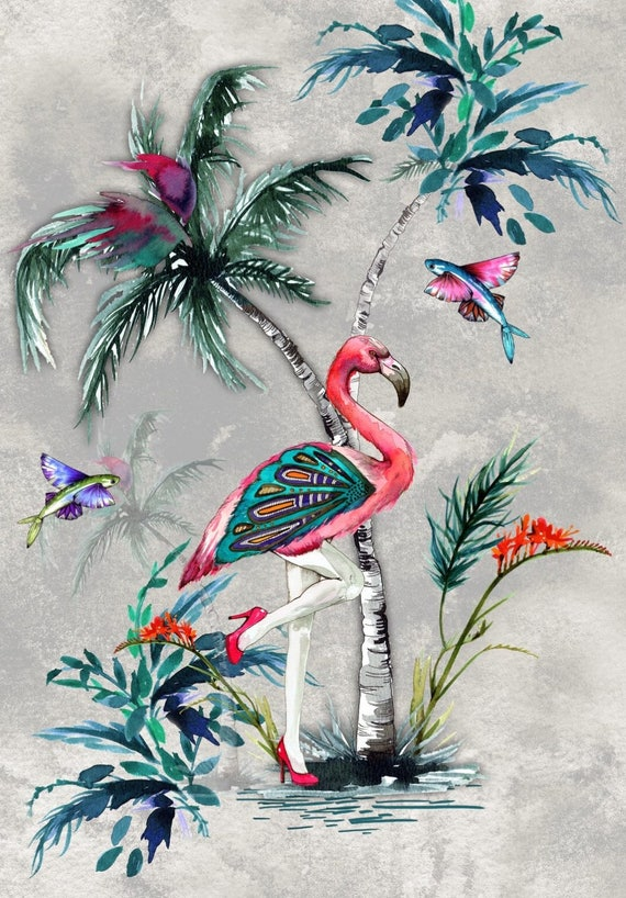 ChiMiracle sexy Flamingo and Butterfly print