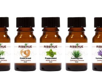 RibbyRue™ 100% Natural, and Organically Grown or Wild-Crafted Therapeutic Quality Essential Oils