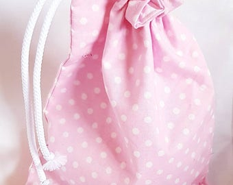 Drawstring fully lined cosmetic / make up bag / toiletries / toys / overnight essentials.