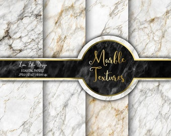 "Marble Digital Paper: ""Marble Textures"" marble backgrounds, marble scrapbook paper, white marble digital paper, white marble for invitations"