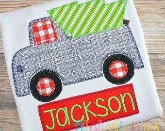 Boys Christmas Shirt - Christmas Truck Shirt.- Monogrammed Christmas Shirt - Boys Holiday Shirt - Boys Cute Christmas