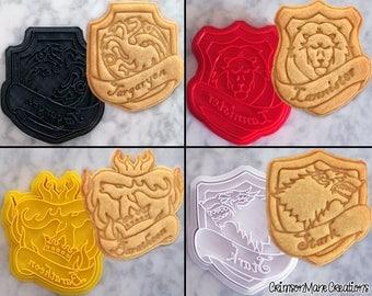 Game of Thrones Inspired Cookie Cutter Set - Targaryen Lannister Baratheon Stark