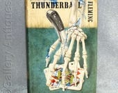 Vintage 1961 1st Edition Thunderball by Ian Fleming James Bond 007  Hardback Book with Dust Jacket Ex-Library (ref: 4043)