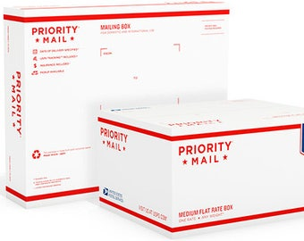 Priority upgrade from first class to small flat rate box