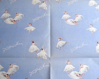 Vintage Wrapping Paper - For Your Bridal Shower Ballerina - 1960s Repurpose Sheet