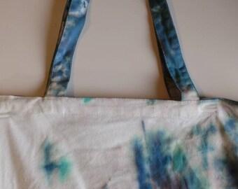 Boho Tie dye handbag tote bag blue red pink green purple market bag library books bag hippie style bag multicolor market craft bag