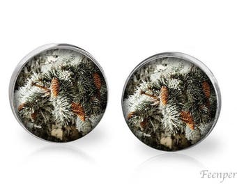 Stud Earrings Frosted 14