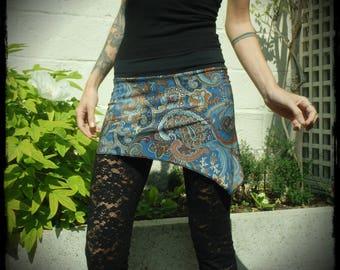 Skirt, mini skirt, asymmetrical skirt, pixie skirt, skirt, festival, goa, coachella ozora elven skirt skirt, Pixie skirt, handmade