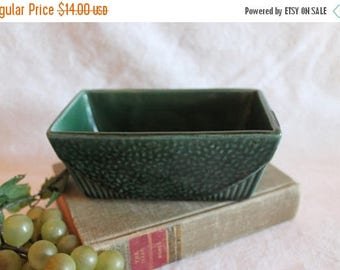 Summer Sun Sale Vintage USA Pottery Green Flower Pot Planter - 75, Brush McCoy?