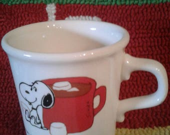 Vintage Snoopy Mug/Hot Chocalate/Marshmellow