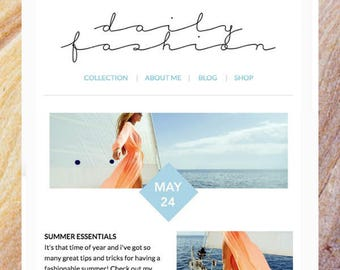 Cool Beach Mailchimp Email Newsletter Template