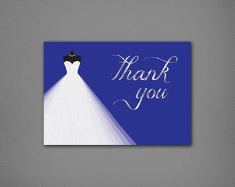 Bridal Shower Thank You Cards • Princess Shower Thank You • Bridal Shower Thanks • Wedding Shower Thank You Card • Unique Thank You Card