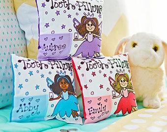 Petal Fairy Tooth Fairy Pillow with Personalization