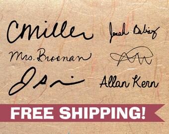 Custom Signature Stamp - Self Inking Signature Stamp - Signature Stamp with Name - Name Stamp - Stamp with My Signature