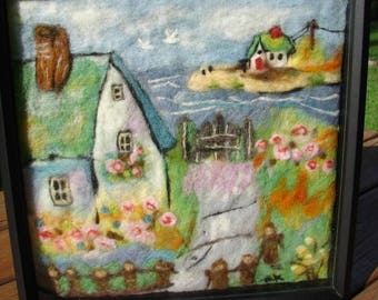 Handmade Needle Felted Wool Painting