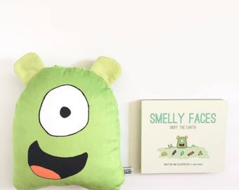 Gift Set: Essential Oil Diffuser- Super Soft Smelly Face and Board Book