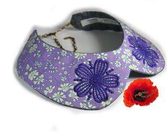 Peter Pan collar removable liberty fabric and denim