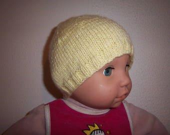 Wool newborn Hat great maternity (yellow)