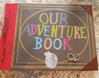 Our Adventure Book, Engagement Book, Movie Up, Proposal Book,  Engagement Ring Holder,