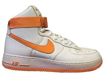 Nike AF1 High-Top White/Vivid Orange