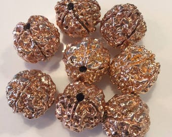 Gold Electroplated Rukraksha beads