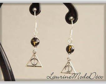 Relics beads earrings