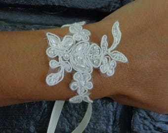 ivory lace glove bracelet beaded available on wedding