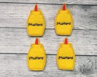 4 mustard felties multiple sizes available