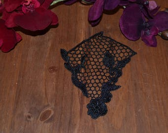 1 pattern 3 model black guipure lace applique