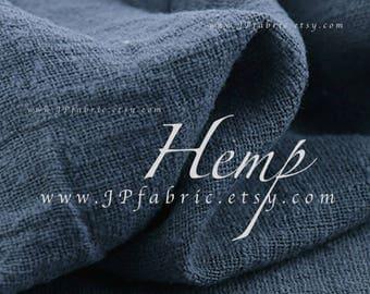 grey hemp fabric by the yard eco-friendly fabric