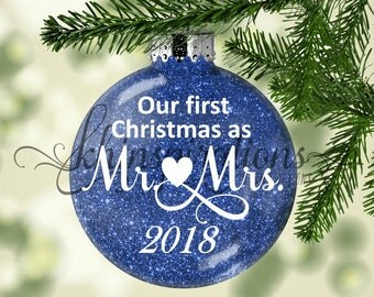 First Christmas Ornament Married, Our First Christmas Ornament, First Christmas Married Ornament, Our first christmas as mr and mrs
