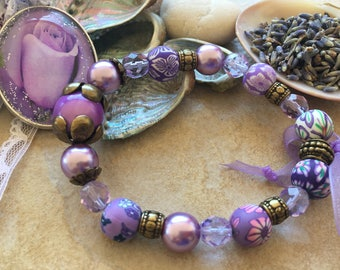 Lavender beads set ethnic
