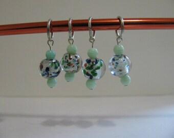 Set of 4 Glass Knitting Stitch Markers