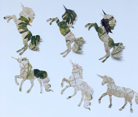 Large Unicorn Die Cuts,Junk Journal,Scrapbooking,Unicorn Decoration,Art Journal,Unicorn Birthday Party,Smash Book, Unicorn Paper Cut Outs