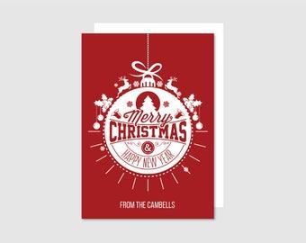 Printable Holiday Card - Ornament