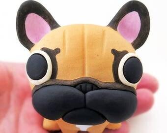 "French bulldog figurine of Ceramic ""The new french bulldog"" #1   工房しろ フレンチブルドッグ"