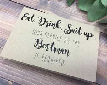 Best Man Card, Will you be my best man? Wedding Stationery