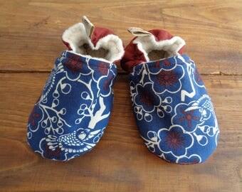 Chaussons en tissu pour bébé - 9/12 mois