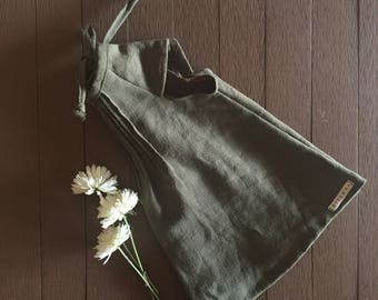 Clover linen retro mini dress / linen dress / green dress