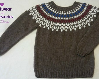 Wool Sweater Icelandic Sweater or Cardigan Nordic Knit Pullover Made To Order