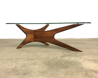 Adrian Pearsall | Mid Century Sculptural Walnut Coffee Table | Craft Associates
